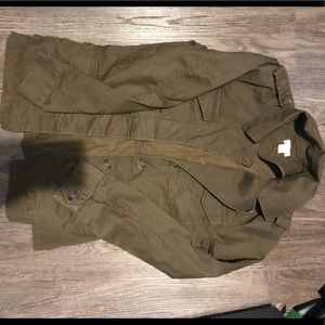 J.crew army green coat. Never worn!